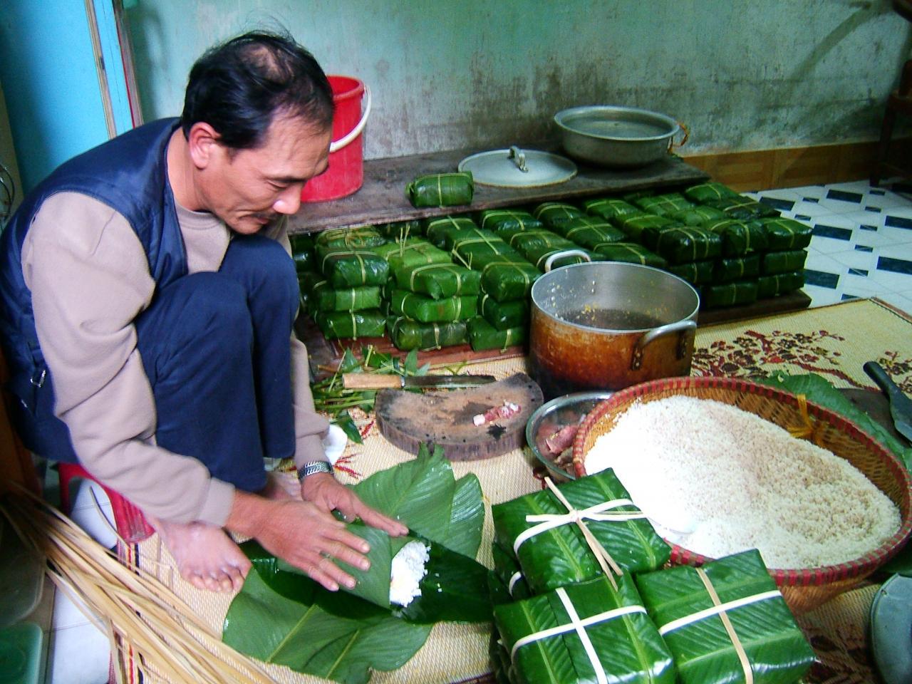 thuyet minh ve phuong phap lam banh chung - Thuyết minh về phương pháp làm bánh chưng